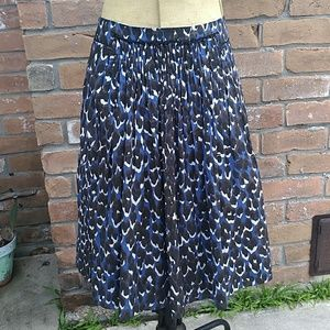 Ellie Tahari Front Pleated Cotton Skirt